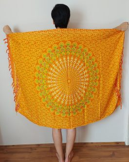 Narancssárga mandalás szarong